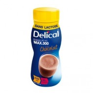 DELICAL BOISSON LACTEE HP HC MAX 300 Sans lactose chocolat Pack/4x300ml