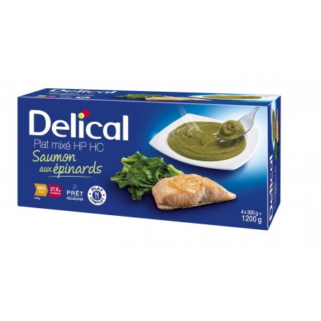 DELICAL Nutra'Mix HP HC Saumon aux épinards  4 X 300G