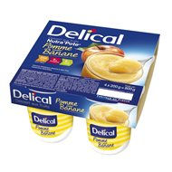 DELICAL NUTRA'POTE Pomme Saveur Banane 4 X 200G