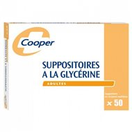COOPER SUPPOSITOIRES GLYCERINE ADULTES X50