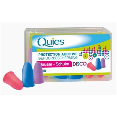 Quies Disco Protection Auditive Mousse Confort x3 paires