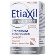 Etiaxil Aisselles détranspirant confort + roll-on 15 ml